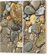 River Rocks 17 In Stereo Wood Print