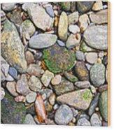 River Rocks 2 Wood Print