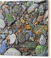 River Rocks 22 Wood Print