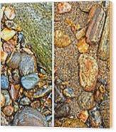 River Rocks 9 In Stereo Wood Print