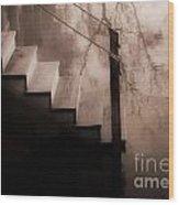River Steps Wood Print