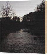 River Stream Wood Print