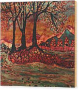 River Sunrise - Lothlorien Wood Print