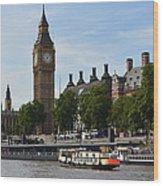 River Thames View Wood Print