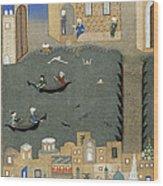 River Tigris In Baghdad Wood Print