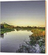 River Tone At Burrowbridge Wood Print