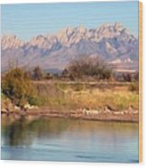 River View Mesilla Panorama Wood Print
