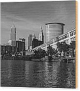 River View Of Cleveland Ohio Wood Print