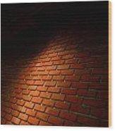River Walk Brick Wall Wood Print