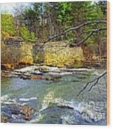 River Wall Wood Print