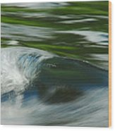 River Wave Wood Print