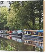 River Wey Navigation Wood Print