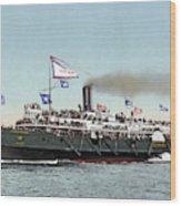 Riverboat, C1900 Wood Print