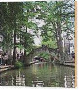 Riverboat View Wood Print