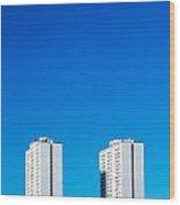 Riverdale Towers Wood Print