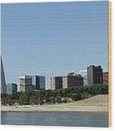 Riverfront Arch Wood Print