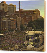 Riverfront Concert Wood Print by Diana Powell