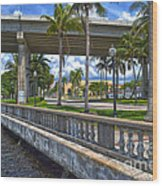 Riverfront Downtown Fort Myers Wood Print