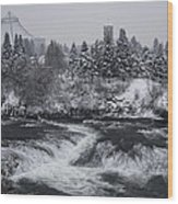 Riverfront Park Winter Storm - Spokane Washington Wood Print