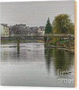 The River Kent At Kirkland In Kendal Wood Print