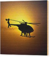 Riverside Ca Pd Air Support Wood Print