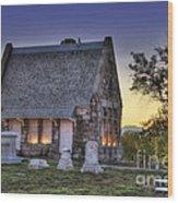 Riverside Cemetery Wood Print