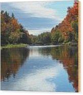 Riverside Colors 1 Wood Print