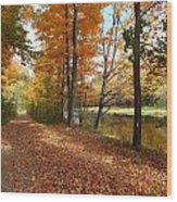 Riverside Colors 5 Wood Print
