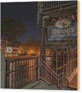 Riverside Commons Wood Print