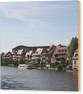 Riverside Of Bamberg - Germany Wood Print