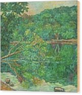 Riverview Reflections Wood Print