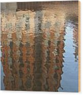 Riverwalk Reflection Wood Print