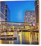 Riverwalk Shimmer Wood Print