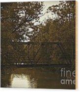 Riveting Bridge Wood Print