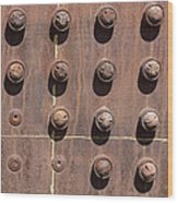 Chama -rivets On Steam Engine Boiler Wood Print