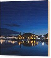 Riviera Blue Wood Print