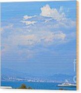 Riviera Blues Wood Print