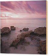 Riviera Maya Sunrise Wood Print