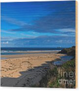 Riviere Sands Cornwall Wood Print