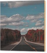 Road Ahead Wood Print