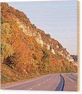 Road Along A River, Great River Road Wood Print