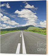 Road And Beautiful Sky Wood Print by Boon Mee