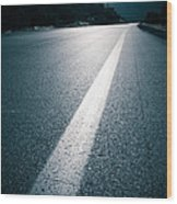 Road Wood Print by Boon Mee