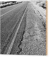 Road In The Desert #1 Wood Print