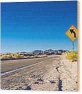 Road In The Desert #2 Wood Print