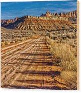 Road Into Solitude Wood Print