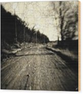 Road Of The Past Wood Print