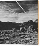 Road Past Sandstone And Limestone Fault Formations In Valley Of Fire State Park Nevada Usa Wood Print