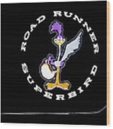 Road Runner Superbird Emblem Wood Print by Jill Reger