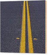 Road Stripe  Wood Print